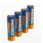 PKCELL 1.2V 1300mAh Ni-MH Rechargeable AA Batteries - Blue + Orange (4 PCS)