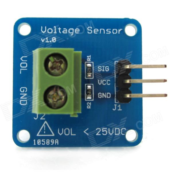 DIY Electronic Bricks Voltage Detection Sensor Module for Arduino Board - Blue + Green