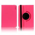 ENKAY ENK-7024 360' Rotary Protective Flip Open Case w/ Stand for 9'' / 10'' Tablet PC - Deep Pink
