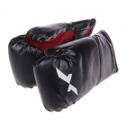 Kids' Professional PU Leather Training Boxing Gloves - Black (Pair)