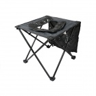 Mimier Convenient Portable Outdoor Folding Mobile Toilet Stool - Black