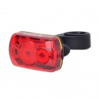 SUPERD S-608 4-Mode 3-LED Red Light Bicycle Safety Taillight - Black + Red (2 x AAA)
