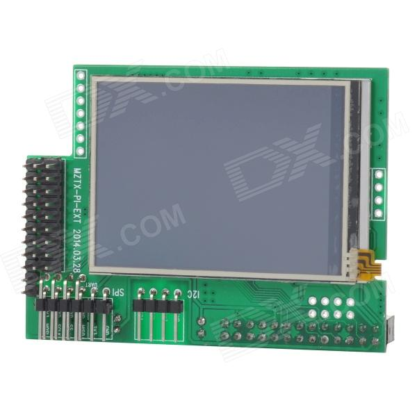 MZTX-PI-EXT 2.5 IPS Full Angle LCD Display Extension Board Module for Raspberry Pi - Green mztx06a 2 2 ips tft lcd display module for raspberry pi sliver
