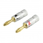 JT-1931 Aluminum Wired S-Video Audio Plugs - Silver + Golden (2 PCS)