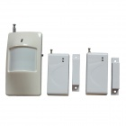 TBJQ001 Infrared Detector + Door Contacts Burglary Alarm Kit - White