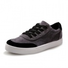 Shang-Jin Men's Breathable Canvas Shoes - Black + Grey + White (EUR Size 43)