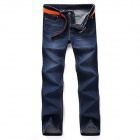 Nuoan 608K Men's Stylish Straight-cut Jeans Trousers Pants - Blue (Size 34)