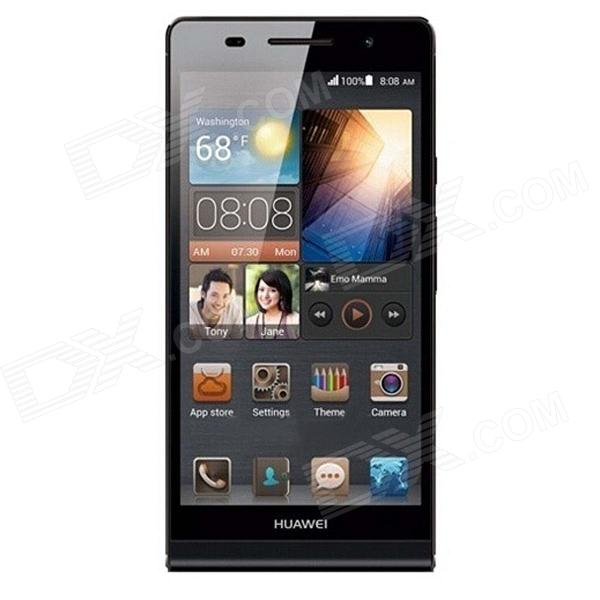HUAWEI P6S Quad-Core Android 4.2 WCDMA Bar Phone w/ 4.7 Screen, Wi-Fi, RAM 2GB and ROM16GB - Black huawei ascend p7 android os 4 4 quad core bar phone w 5 0 13mp camera ram 2gb rom 16gb black