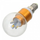 MLSLED E14 2W 140lm 3500K 10-SMD 2835 LED Warm White Bulb - White + Transparent (AC 220~240V)
