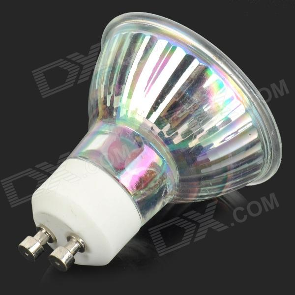 gu10 1w 80lm 18 led rgb light cup style lamp bulb transparent white ac 220v free. Black Bedroom Furniture Sets. Home Design Ideas