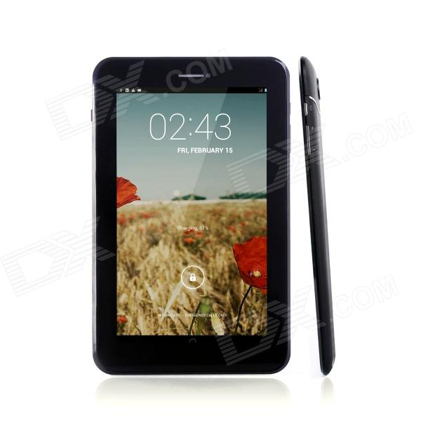 "JXD P1000B 7.0"" Dual Core Android 4.2 Tablet PC med dobbelt SIM, 4GB ROM, 3G, TF - svart"