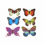 Glow-in-the-Dark Butterfly Decorative Brooches - Fluorescent Green + White (6 PCS)
