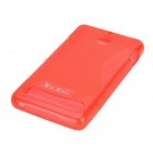 S Pattern Protective TPU Back Case for Sony Xperia E1 - Red