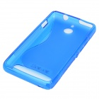 S Pattern Protective TPU Back Case for Sony Xperia E1 - Blue