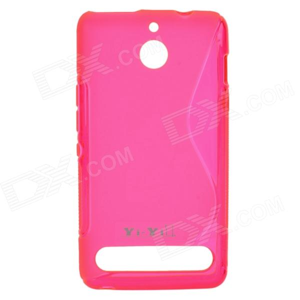 S Pattern Protective TPU Back Case for Sony Xperia E1 - Deep Pink protective anti slip s pattern tpu case for sony xperia e1 purple