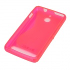S Pattern Protective TPU Back Case for Sony Xperia E1 - Deep Pink