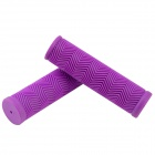 C100 Rubber Bike Bicycle Handlebar Grip Covers - Purple (1 Set)