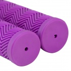 Rubber Bike Bicycle Handlebar Grip Covers - Purple (1 Set)