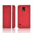 Angibabe Protective PU Leather Flip Open Case w/ Stand / Card Slot for Samsung Galaxy S5 - Red