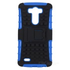 Protective TPU + PC Back Case w/ Holder for LG G3 - Blue + Black