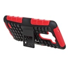 Protective TPU + PC Back Case w/ Holder for LG G3 - Red + Black