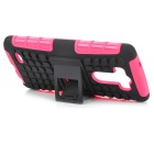 Protective TPU + PC Case w/ Holder for LG G3 - Deep Pink + Black