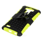 Protective TPU + PC Case w/ Holder for LG G3 - Green + Black
