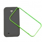 Protective TPU + Plastic Back Case Cover for Samsung Galaxy S4 / I9500 - Green + Black