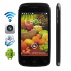 "CUBOT GT95 Dual-Core Android 4.4.2 WCDMA Bar Phone w/ 4.0"" IPS, Wi-Fi and Dual-SIM - Black"