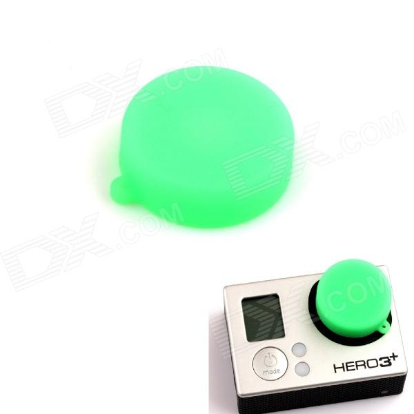 PANNOVO Professional Protective Silicone Lens Cover Cap for GoPro Hero 3 / 3+ - Green pannovo protective plastic lens cover for gopro hero 4 3