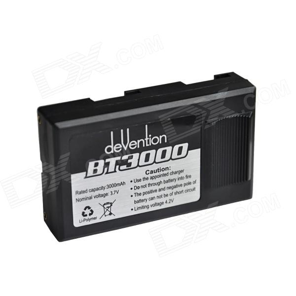 Walkera BT3000 3.7V 3000mAh Li-Po батарея для Дево 12S / Дево F12 - черный