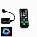 KINFIRE 20-Key Infrared LED RGB Light Strip Controller - Black (1 x CR2025 / DC 12V)