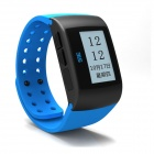 "MU1 1.3"" LCD Activity & Sleep Tracker Digital Wrist Watch w/ Alarm - Blue"