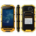 Discovery v6 Waterproof MTK6572 Dual-Core Android 4.2.2 GSM Bar Phone w/ 4.0'' Screen, FM - Yellow