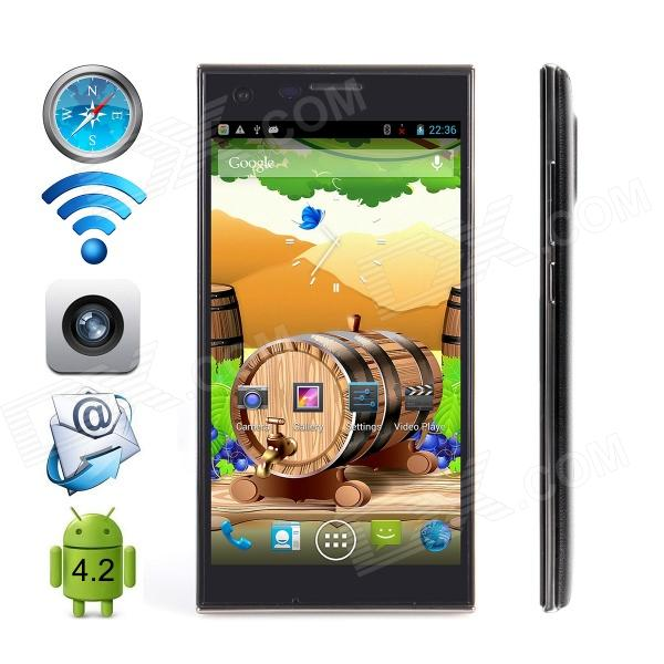 CUBOT S308 MTK6582 Quad-Core Android 4.4 WCDMA Bar Phone w/ 5.0 OGS HD / Wi-Fi / GPS - Black
