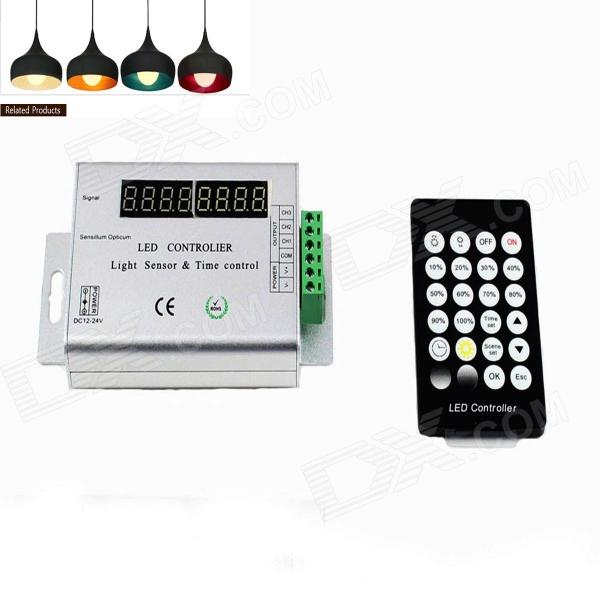 KINFIRE T12 144W Light Sensor / Time Control LED Controller - Silvery White + Black (DC12~24V )