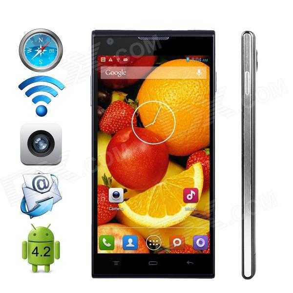 CUBOT P7 MTK6582 Quad-Core Android 4.2.2 WCDMA Bar Phone w/ 5.0 IPS QHD / Wi-Fi / GPS - Black finesource g7 android 4 4 quad core wcdma bar phone w 5 5 4gb rom wi fi gps ota black