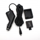 JUSTONE Battery Charging Dock + Battery (900mAh) + Car Charger for SJ4000 - Black