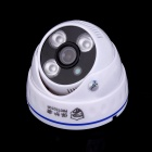 "Protector PT-8001D 1/4"" CMOS 700TVL Surveillance CCTV Camera w/ 3-IR-LED - White + Blue (PAL)"