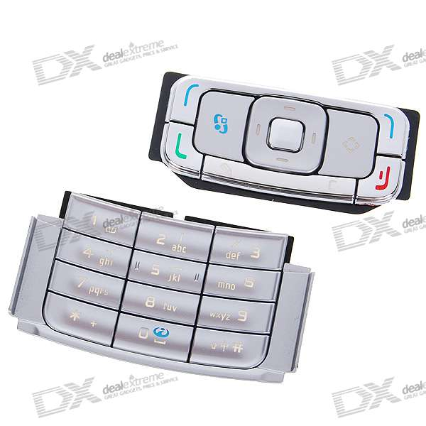 Repair Parts Replacement Keypad for Nokia N95 (Silver)