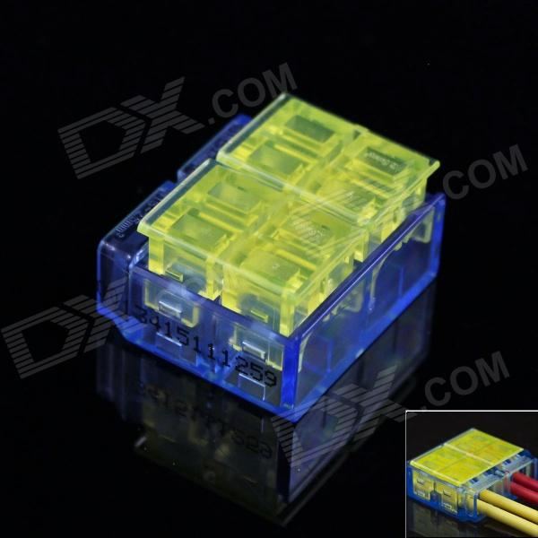 2 x 2-Pin Free Skinned Electric Wire Cable Quick Joint / Connector - Yellow + Blue (5PCS) free shipping 1pc lot good quality wt 1 pvc pipe and cable wire duct cutters knife suit for 50mm width pvc wire duct