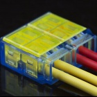 2 x 2-Pin Free Skinned Electric Wire Cable Quick Joint / Connector - Yellow + Blue (5PCS)