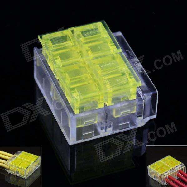 4-Pin Free Skinned Electric Wire Cable Quick Joint / Connector - Yellow + Transparent (5PCS) free shipping 1pc lot good quality wt 1 pvc pipe and cable wire duct cutters knife suit for 50mm width pvc wire duct