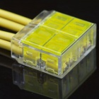 4-Pin Free Skinned Electric Wire Cable Quick Joint / Connector - Yellow + Transparent (5PCS)