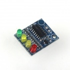 ZnDiy-BRY XD-82B 12V Storage Battery Power Indicator Module w/ 4 LEDs - Deep Blue