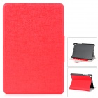 Protective Ultrathin PU Leather Case w/ Holder for Xiaomi Mi Pad - Red