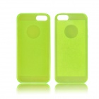 Angibabe 0.3mm Soft TPU Protective Glitter Jelly Phone Case for IPHONE 5 / 5S - Green