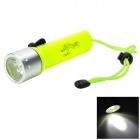 Pange QS-01 Waterproof LED 200lm 1-Mode Cool White Diving Flashlight - Green (4 x AA)