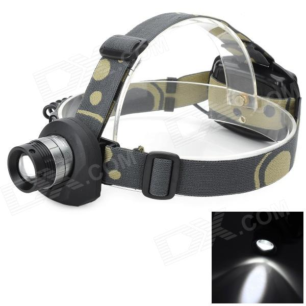 Pange J5 LED 200lm 3-Mode Cool White Light Headlamp - Silvery White + Black (3 x AA)