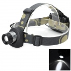 Pange J5 Cree XP-E Q5 200lm 3-Mode Cool White Light Headlamp - Silvery White + Black (3 x AA)